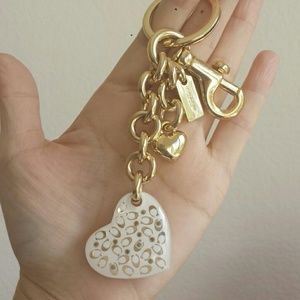 Coach Accessories - Coach Heart Charm Keychain NWOT Authentic
